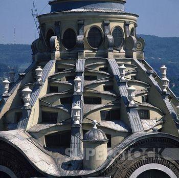 Guarino Guarini. Capilla del Santo Sudario, Turín. Vista exterior de la cúpula.