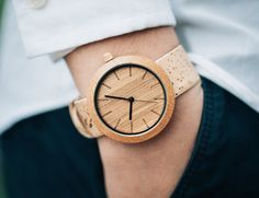 Panda Bamboo Watch with Cork Strap - The Panda Watch features a premium minimalistic design fused with sustainable elements.