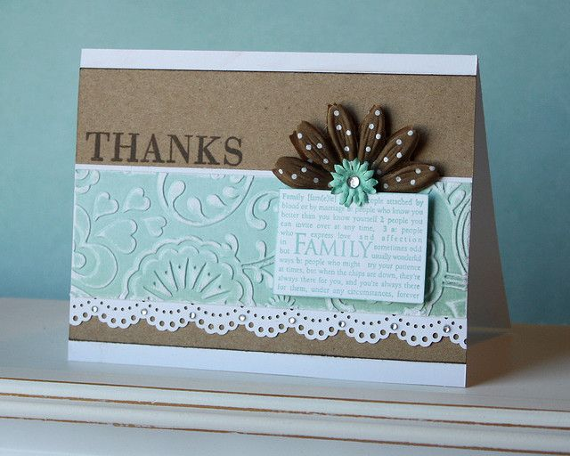 Love the embossing and color combo