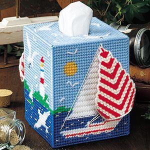 Plastic canvas sailboat patterns  Plastic canvas tissue box patterns