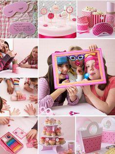 Haz una fiesta sorpresa a tus hijas con sus amigas con nuestros consejos y jamás la olvidará.  #fiesta #pijamas #niñas #rosa #ideas #decoración #DIY