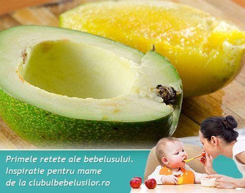 Piure de avocado si mango pentru bebelusi de la 7 luni