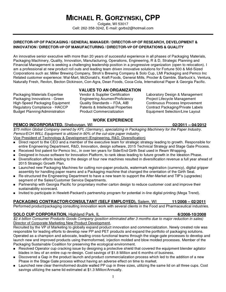The 14 best Resumes images on Pinterest Sample resume, Engineering