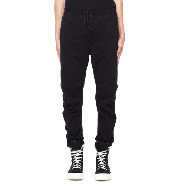 Lost&Found Cotton and Elastane Trousers ($340) ❤ liked on Polyvore featuring men's fashion, men's clothing, men's pants, men's casual pants, mens spandex pants, mens cotton pants and mens lycra pants