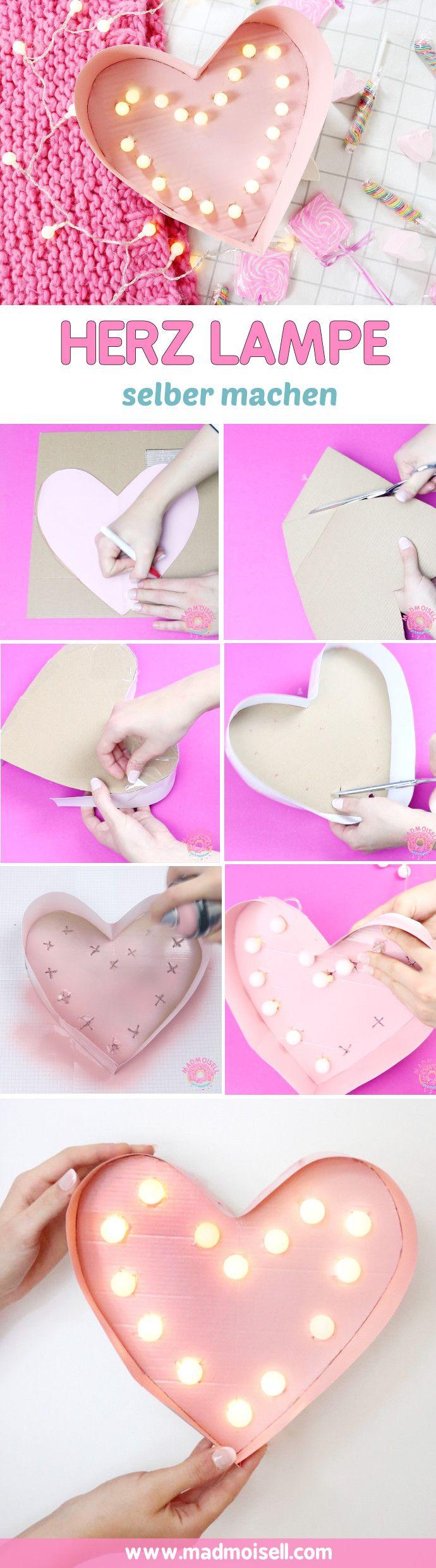 Awesome DIY Lampe in Herzform selber machen u Kreative DIY Deko Idee