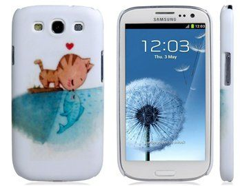 Cat Kissing Fish Print Plastic Case for Samsung G  #CE