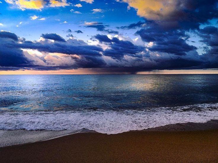 #sea #sky #calella #barcelona #spain #sunrise #clouds #sea #sky #calella #barcelona #spain #sunrise #clouds