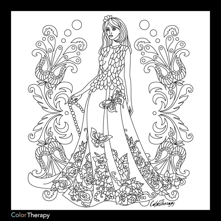Coloring Pages For Therapy : Best beautiful women coloring pages for adults images