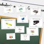 Vocabulario en imágenes con cosas de la clase - Escuela en la nube
