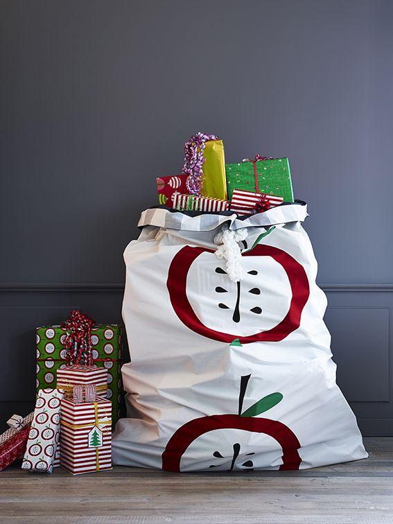 O saco do Pai Natal, versão design.