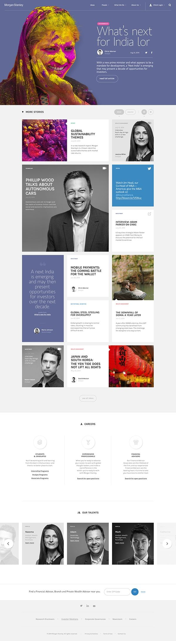Morgan Stanley on Behance
