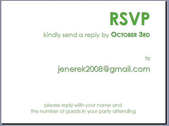 Wedding Invitation Wording Rsvp Email Yaseen for