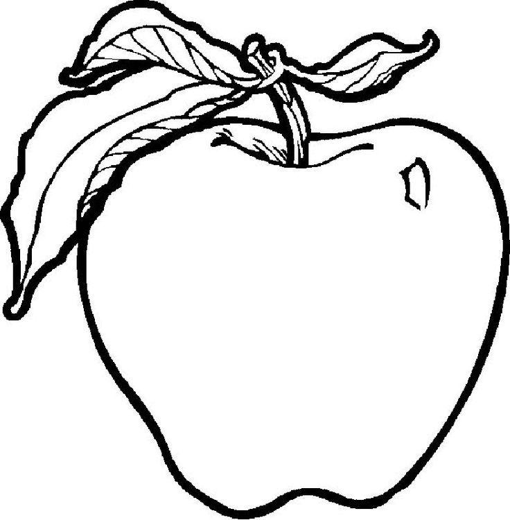 Яблоко картинки для раскраски
