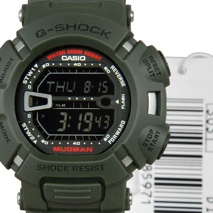 Chronograph-Divers.com - Casio Quartz G-Shock Mudman Digital Gents Sports Watch G-9000-3VDR, $84.00 (http://www.chronograph-divers.com/g9000-g-9000-3v-casio-g-shock-mudman-watch/)