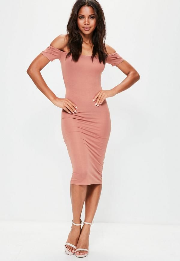 Be a bardot babe in this beaut midi dress! With a bardot neckline, midi length and bodycon fit, you are sure to score a wardrobe win!