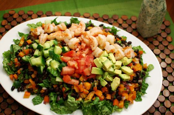 Mexican Cobb Shrimp Salad from Beantown Baker