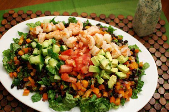 Mexican Cobb Shrimp Salad