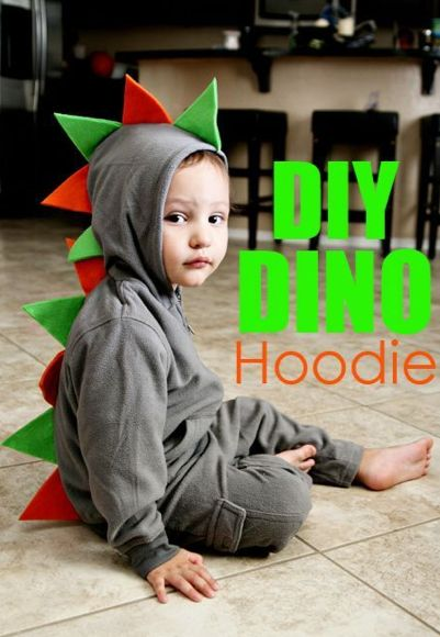 Thanks to Vanessa Craft, that old hoodie can morph into a prehistoric creature in no time with some colored felt and some glue.