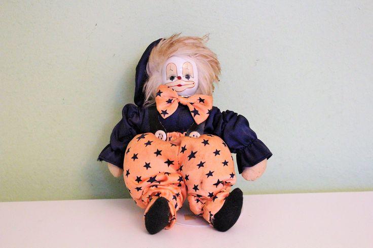Vintage Porcelain Ceramic Small Clown Doll, Circus Clown Figurine, Monique Exclusive Design Clown Doll by Grandchildattic on Etsy