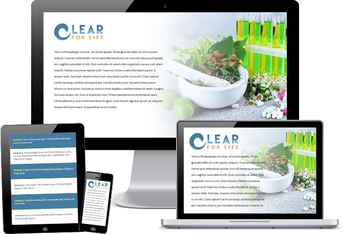 Clear For Life Science Based Natural Acne Treatment Program