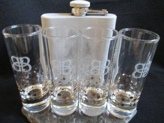 Baileys Irish Cream Tall Shot Glasses Liqueur by KLBVintageWares