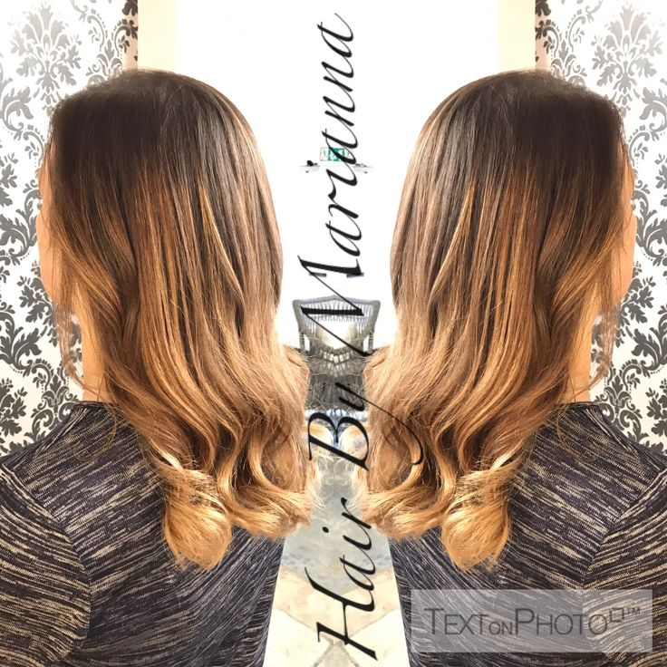 Brunette balayage Hair By Marianna