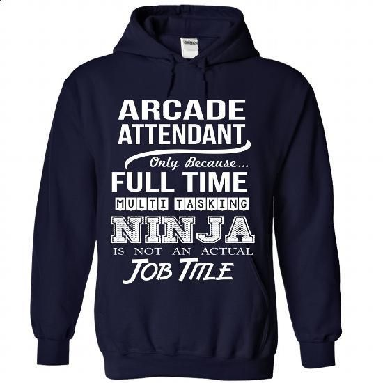 ARCADE-ATTENDANT - Job title - #shirt designs #casual shirts. ORDER NOW =>…