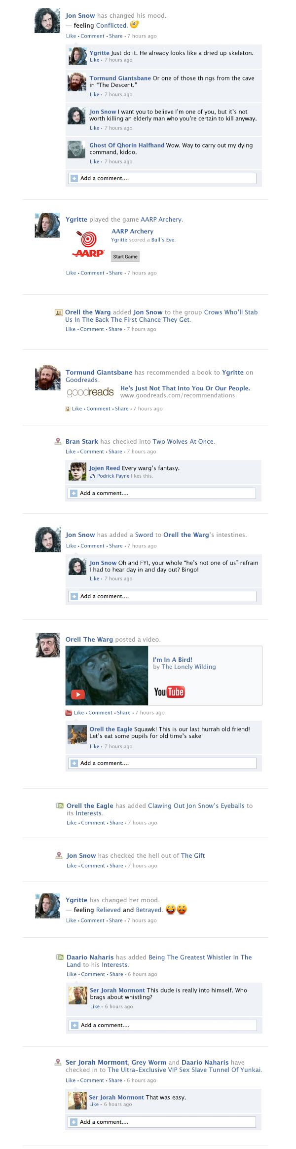 """Game Of Thrones Facebook Recap Season 3 Episode 9 