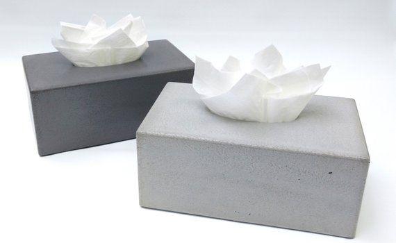 Concrete Tissue Box Cover Kleenex Tissue Box Cover Rectangular Tissue Box Cover Facial Tissue Box In 2020 Facial Tissue Box Covered Boxes Tissue Box Covers