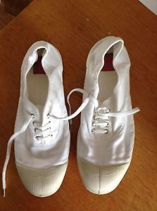 Bensimon-Collection-White-Womens-Plimsolls-Size-39-uk6-worn-once