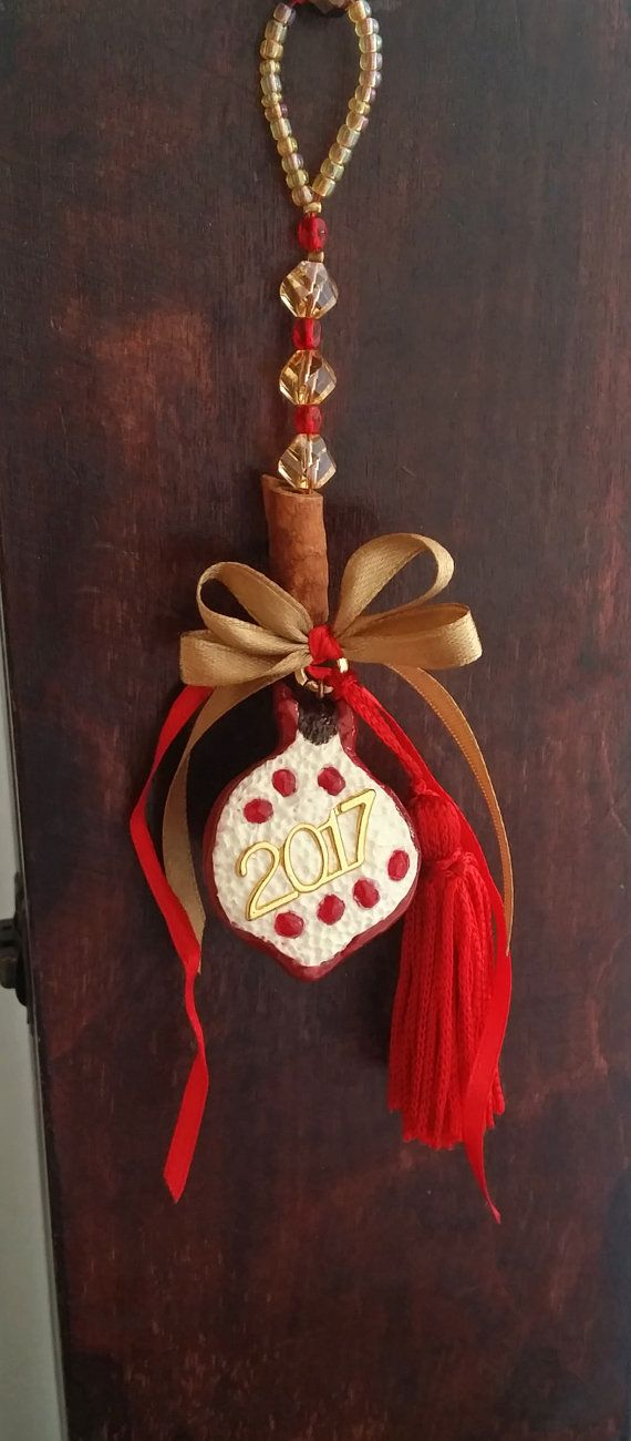 Glamorous Pomegranate Hanging Ornament 2017  by EvasCreationsShop