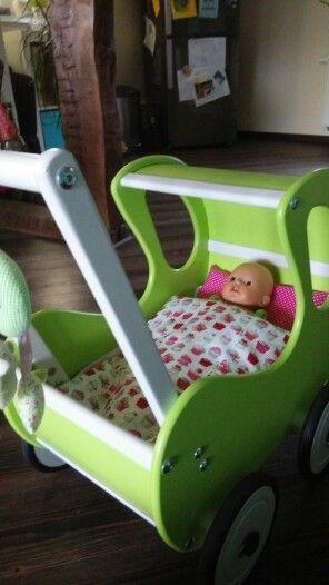 Kissen und Decke (wendbar und Innenfutter rausnehmbar) für den Pinolino Puppenwagen  Maße zum zuschneiden : Kissen = 28x20 Decke = 28x38