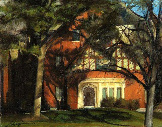 Amanda Knight Apartment Complex-Wall Art, Landscape Oil Painting , Canvas Art, Wall Decor, Wall Hangings, Fine Art, Artwork,home decor