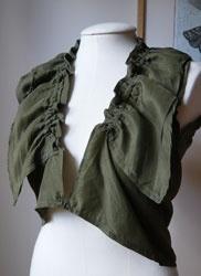 LUcÉ - Green Silk Ruffle Top