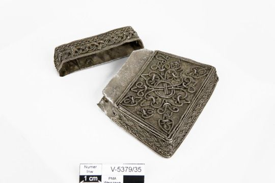 Slavic kaptorga (a small container for amulets and sacred herbs) found in Borucin near Bydgoszcz, Poland. Timeline: 11th century.