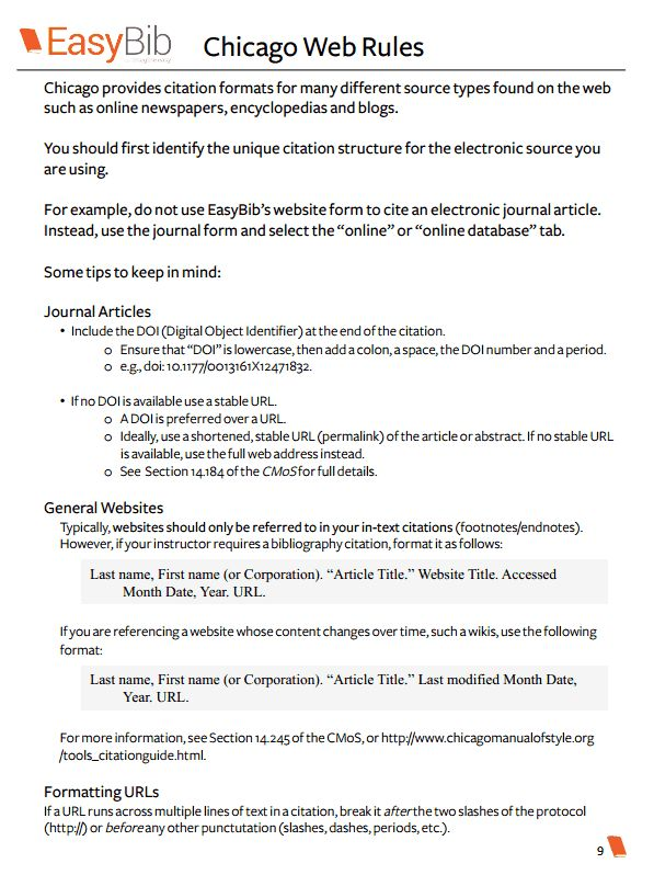 Free Chicago Citation Basic E Book Academic Writing Format Literary Analysis How To Cite A Paraphrase In