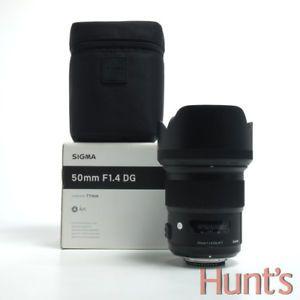 a sigma art 50mm f14 dg nikon g mount auto focus lens