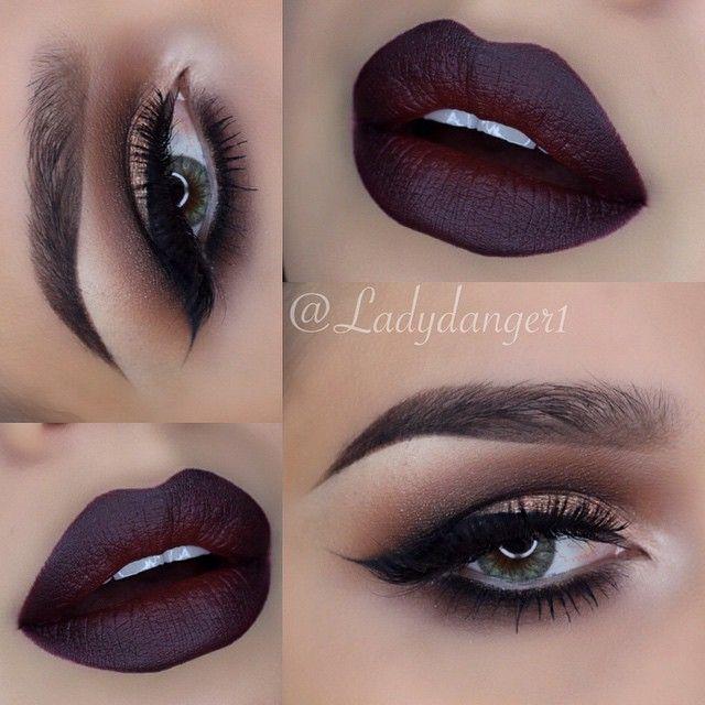 Mac cosmetics☻(Sin) lipstick w/ (Nightmoth) lip liner☻