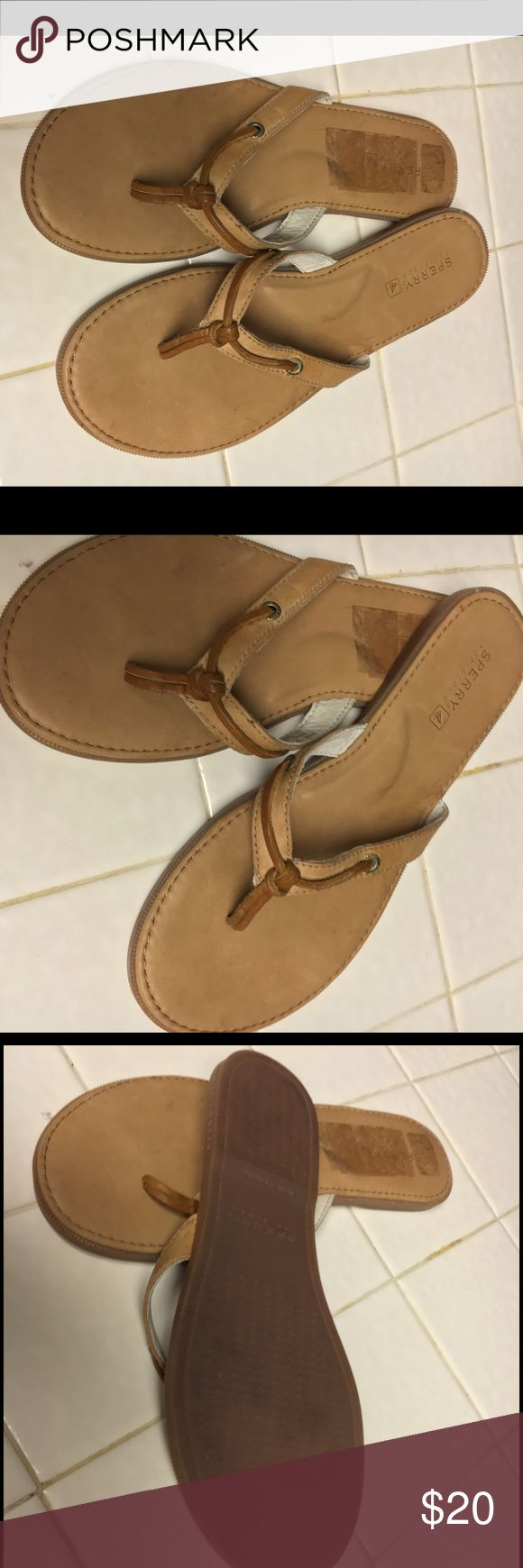 Sperry Leather Sandals Sperry Leather Sandals - Tan - Size 7 - New Only flaw is the sales sticker imprint on right shoe. Sperry Shoes Sandals