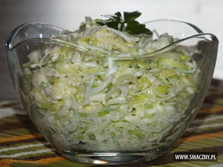 Łatwa, szybka i przepyszna #surówka do dzisiejszego obiadku:  http://www.smaczny.pl/przepis,surowka_z_pora_i_jablka  #przepisy #surówki #por #jabłka #warzywa #obiad #zdrowie