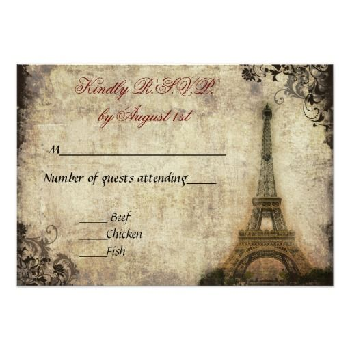 Best Paris Themed Wedding Postcards Images On   Card