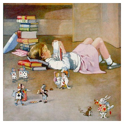 alice in wonderland reading log Alice's adventures in wonderland control close the book turn the p  the text of this book was originally entered as an online etext for project.