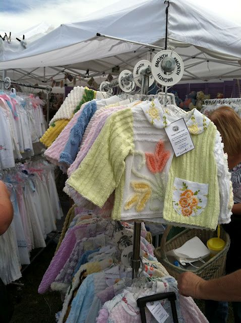 Vintage jackets made from Chenille blankets and pillow cases.  ADORABLE!