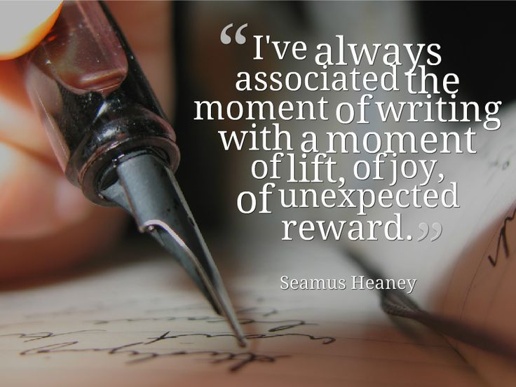 Seamus Heaney on #writing