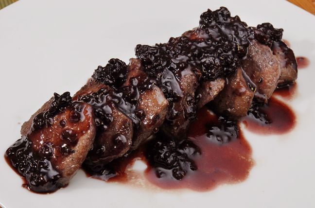 tenderloin of venison recipe with blackberry sauce. This would be a great match for Annapolis Riviera's Blueberry Lavender Jam.