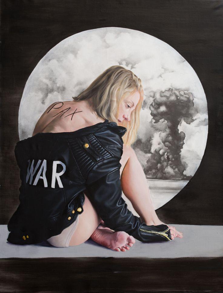 War oil on canvas; 150x115  eva fajcikova