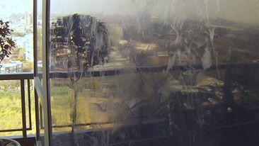 Estuco color Violeta combinado con toques de Plata. Obra realizada para Alfred Fellinger. Torres Le Parc Figueroa Alcorta. Buenos Aires.