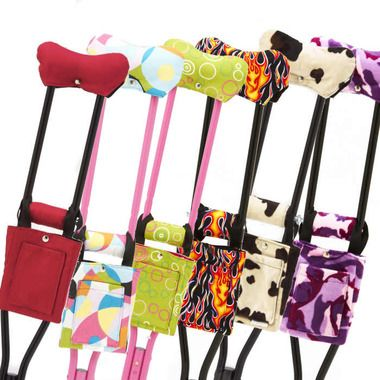 Fashion Crutch Accessories - Print Crutch Covers