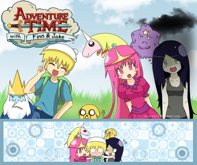 Cool Adventure Time With Finn An Post Anime StyleCartoon