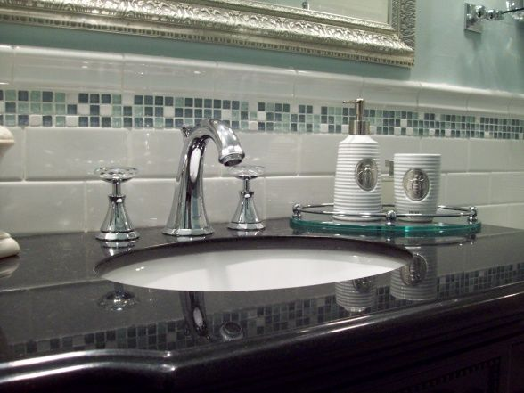 Here are my faucets which I LOVE. I feel like a princess every time I wash my hands. LOL